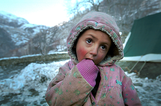 Little Afghan refugee, Hindu-Kush mountains, Pakistan
